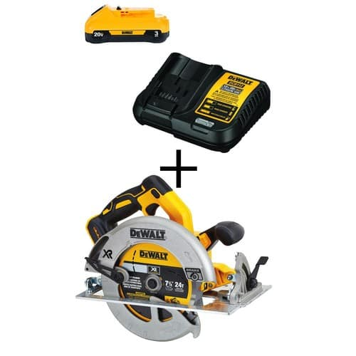 $199 - 20-Volt MAX  Brushless 7-1/4 in. Circular Saw (Tool-Only) with Free 20-Volt MAX Battery 3.0Ah & Charger