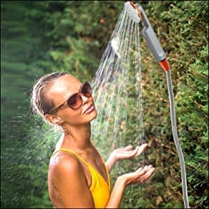 Ivation Portable Battery Powered Rechargeable Outdoor Camping Shower - Amazon  - $24.99