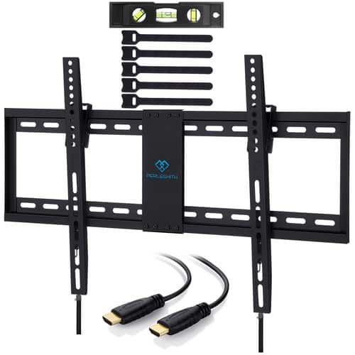 Amazon Choice: 32-70 inch TV Wall Mount Bracket with HDMI Cable, Bubble Level & Cable Ties $16.99 AC + FS