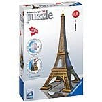 Ravensburger Eiffel Tower 216 Piece 3D Building Set $15