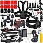 Erligpowht Action Cam/Go Pro Outdoor Sports Kit Ultimate Combo 40-in-1 accessories $16.99 AC FS w/ Prime