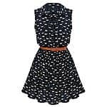 MAKIYO Women's Sleeveless Lapel Collar skirt Casual Dress $11.99 @amazon