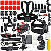 Amazon Deal: Erligpowht Action Cam/Go Pro Outdoor Sports Kit Ultimate Combo 40-in-1 accessories $16.99 AC FS w/ Prime