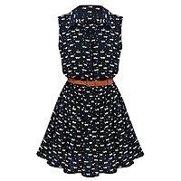 Amazon Deal: MAKIYO Women's Sleeveless Lapel Collar skirt Casual Dress $11.99 @amazon