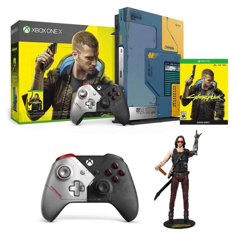 Cyberpunk 2077 Xbox One X Limited Edition Console plus extra controller and figurine @Gamestop online only. $389.99