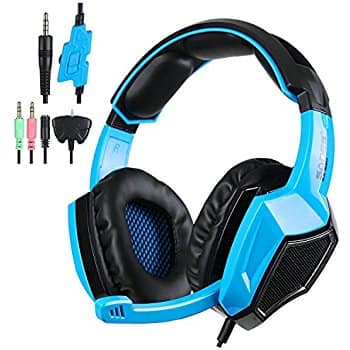 Kingtop Over-Ear Stereo Gaming Headset for PlayStation 4, Black and Blue $11.99 A/C at Amazon