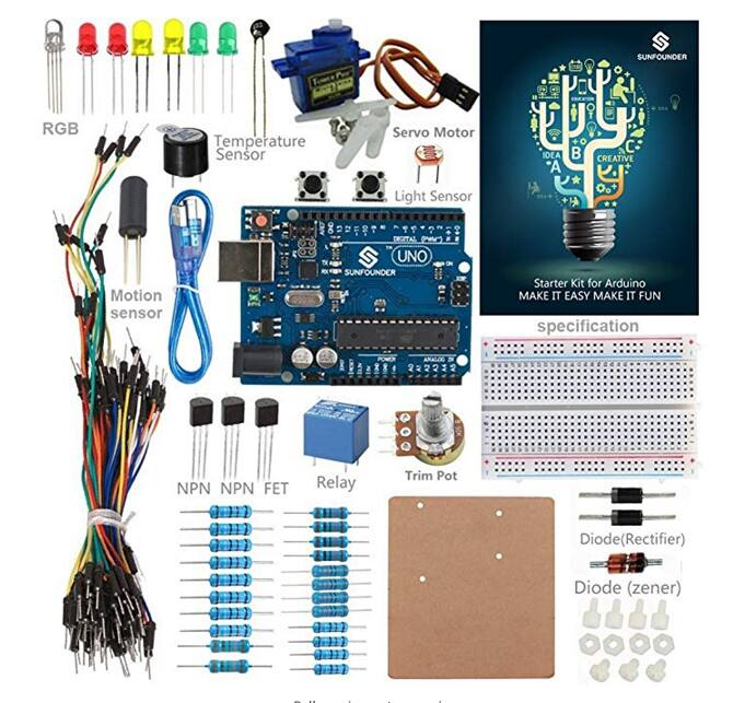 SunFounder Arduino R3 Ultimate Project Board $19.79 (Uno R3) or $20.99 (Mega 2560) at Amazon