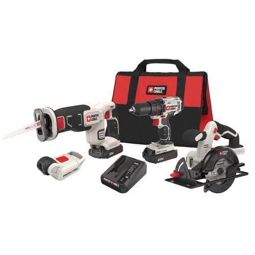 Porter-Cable 20V Max Cordless Lithium-Ion 4-Tool Combo Kit PCCK616L4 New for $159.99 + FS