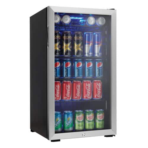 Danby 120 Can Beverage Mini Fridge Cooler, Stainless Steel - $190 $189.99 + free S/H