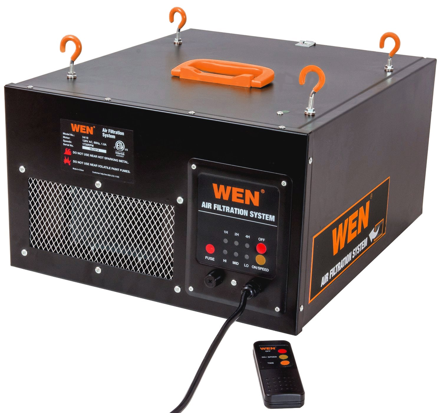 WEN 3410 3-Speed Remote-Controlled Air Filtration System $132.1