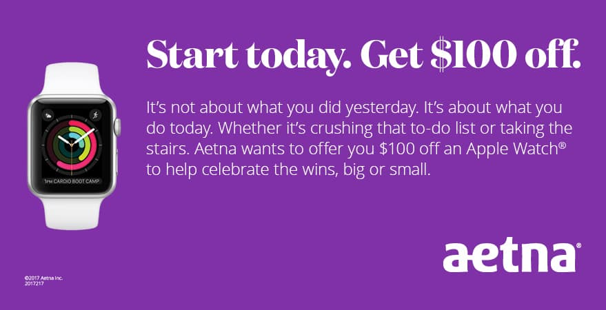 Apple Watch Series 3 and Series 1 - $100 off for TriNet Aetna medical plan members $229