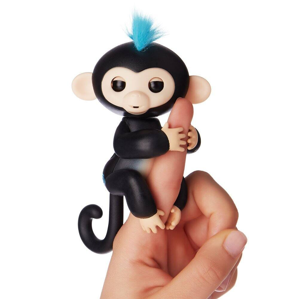 Fingerlings - Interactive Baby Monkey - Finn (Black with Blue Hair) By WowWee 14.84 - In stock now (Also now Sophie too)