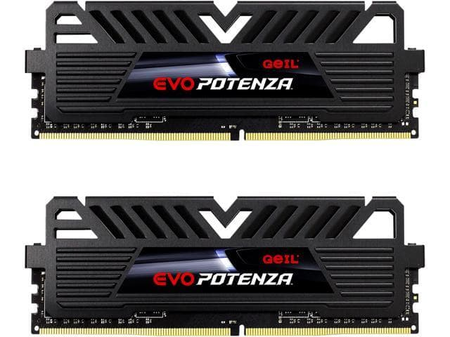 GeIL EVO POTENZA 16GB (2x8GB) DDR4-3200 CL16 RAM $59.99 + FS @ Newegg, and two more 3200/CL16 options