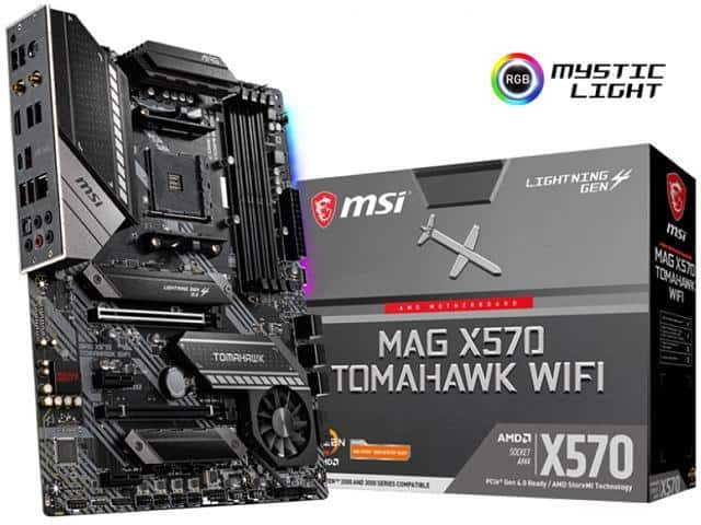 MSI MAG X570 TOMAHAWK WIFI AM4 motherboard available $219.99 + FS @ Newegg