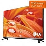 "43"" LG 43LF5900 Smart LED HDTV w/ WebOS + $150 Dell eGift Card $429.99 + Free Shipping"