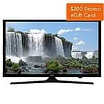 "43"" Samsung UN43J5200 1080p Wi-Fi Smart LED HDTV (2015 Model) + $200 Dell eGift Card $477.99 + Free Shipping"