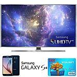 "48"" Samsung 4K 3D Smart HDTV + 32GB Galaxy S6 + $300 Visa GC  $1498"