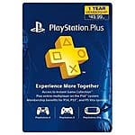 PlayStation Plus 12 Month Membership Card $40 + Free Shipping