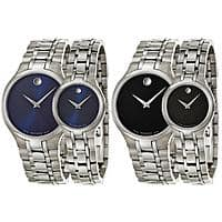 Movado Collection Men's or Women's Watch (Black or Blue Dial)