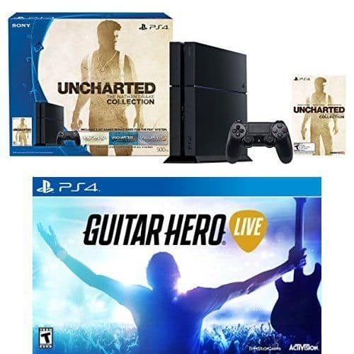 Sony PlayStation 4 Uncharted + Guitar Hero Live Console Bundle  $370 + Free Shipping