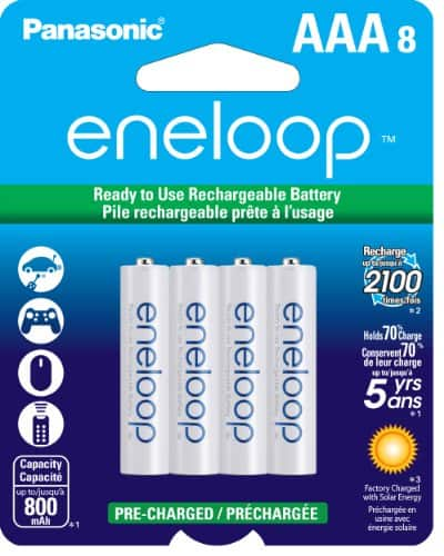 Eneloop Rechargeable Batteries: 24-Pk AA $36, 8-Pk AAA  $10 after Rebate + Free S&H