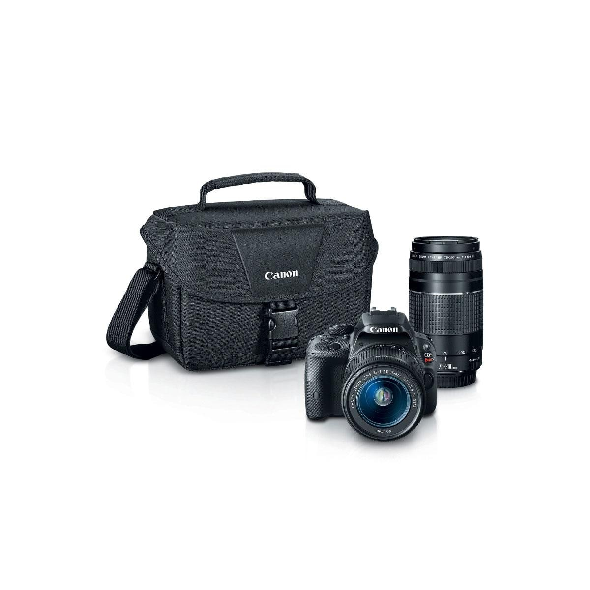 Canon SL1 DSLR w/ 18-55mm & 75-300mm Lenses + Pro-100 Printer  $400 after $350 Rebate + Free S&H