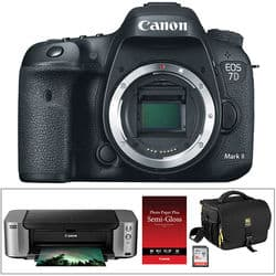 Canon EOS 7D Mark II DSLR Camera + PIXMA Pro-100 Printer Kit $1049 After $350 Rebate + Free Shipping