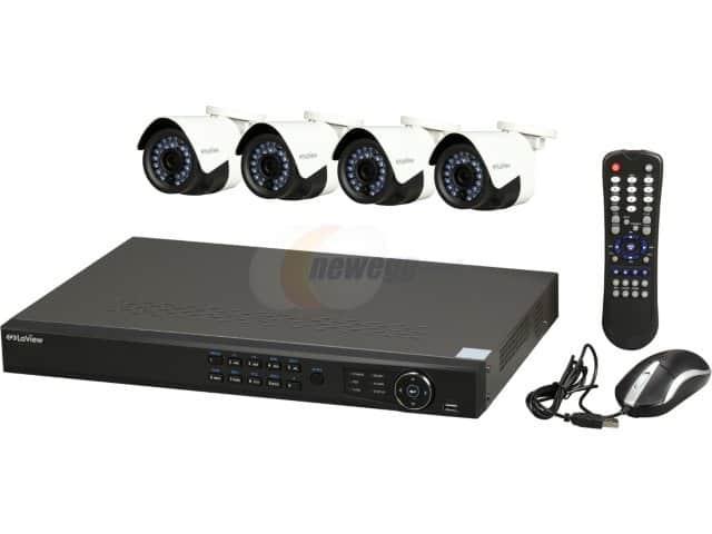 8-Channel LaView IP Surveillance Security System NVR + 4x 1080p Full HD IP Cameras $299 + Free Shipping
