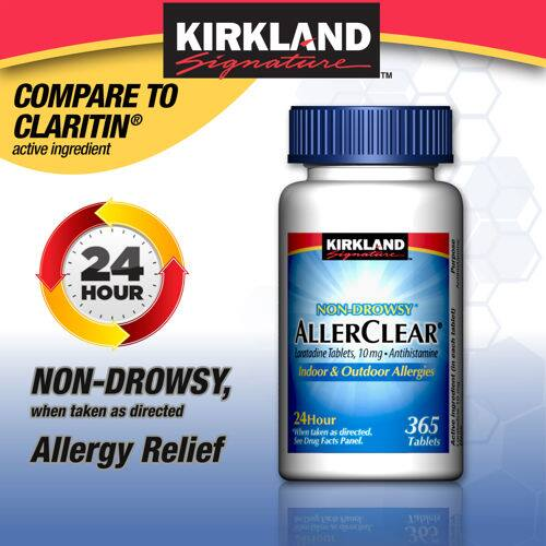 Kirkland Signature Allergy Relief: 365-Ct Tablets (various)  from $10.65 or less + Free Shipping