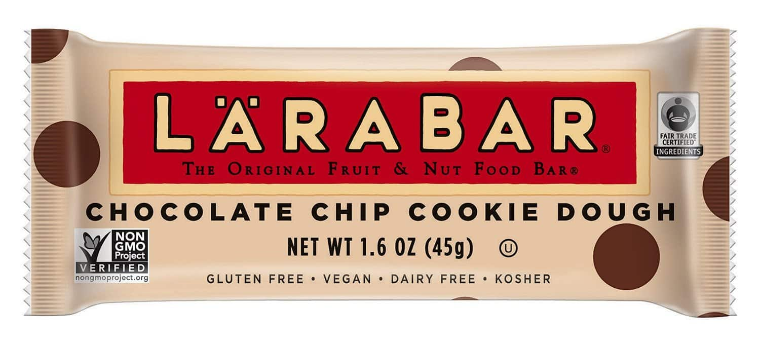 Larabar Chocolate Chip Cookie Dough Bar-5 ct $.74 as low as $.21 w/ coupon and Amazon s&s