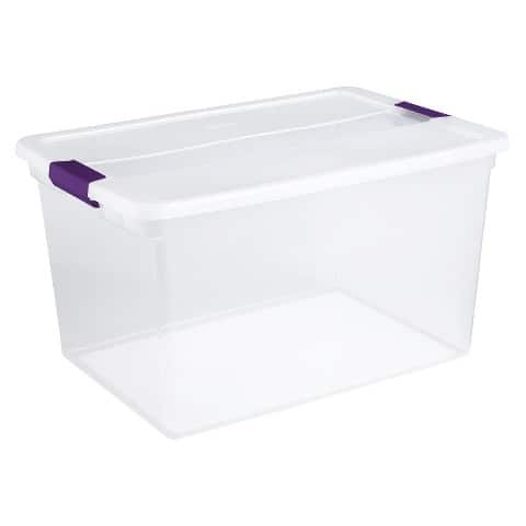 5-Pack of 66-Quart Sterilite ClearView Latch Storage Tote  $25 + Free Store Pickup