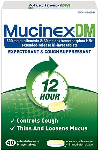 Mucinex DM 12-Hour Expectorant and Cough Supressant Tablets, 40 Count as Low as $9.37 Via Amazon S&S