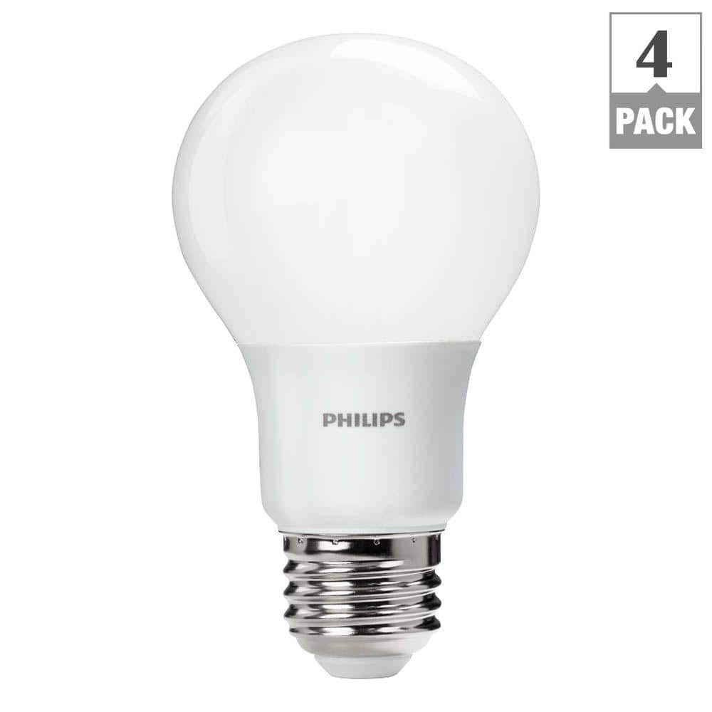 4-Pack of Philips 60W-Equivalent Daylight A19 LED Non-Dimmable Light Bulb for $10.97 with free in-store pickup