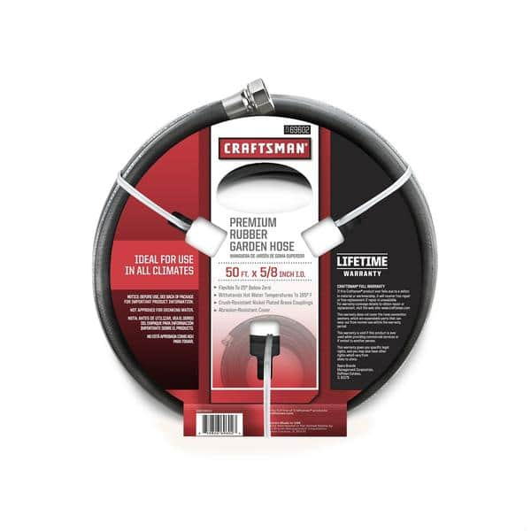 """Craftsman 5/8"""" x 50' All-Rubber Garden Hose - $23 at sears.com"""