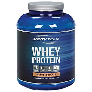 10-Lbs BodyTech Whey Protein Powder (Chocolate or French Vanilla) $50.35 + Free Shipping