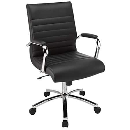 realspace winsley mid-back chair (black or white) - slickdeals