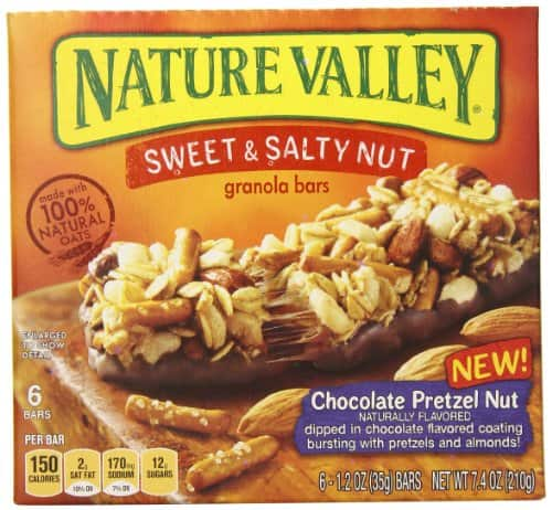 6-Count Nature Valley 1.2oz Chocolate Pretzel Nut Granola Bars (Sweet and Salty) $2 or Less + Free Shipping Amazon.com