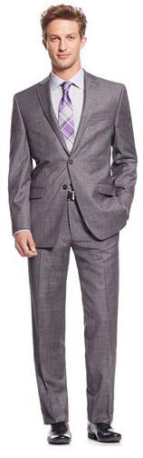 Calvin Klein Men's Slim-Fit Wool Suit  $75 + Free Shipping