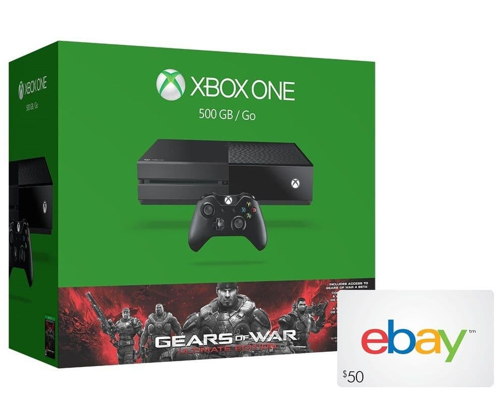 Xbox One 500GB Gears of War: Ultimate Edition Bundle + $50 eBay Gift Card $279 + Free Shipping! (eBay Daily Deal)