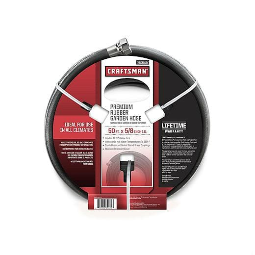 """Craftsman 5/8"""" x 50' All-Rubber Garden Hose $19.99 @ Sears.com~Free Store Pick Up!"""