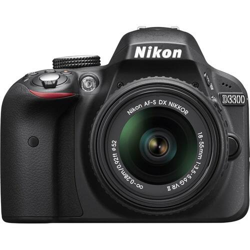 Nikon Refurbished D3300 24.2MP 1080p Digital SLR Camera w/ 18-55mm VR II Lens + Nikon WiFi Adapter and Corel Paintshop Pro X8 $319 + Free Shipping