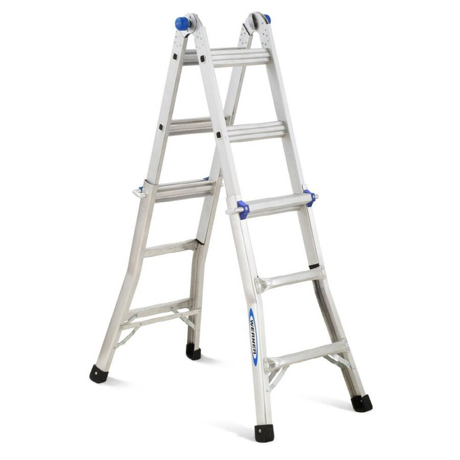 Werner 13-ft Aluminum 300-lb Telescoping Type IA Multi-Position Ladder $89.00 at Lowes was $119.00