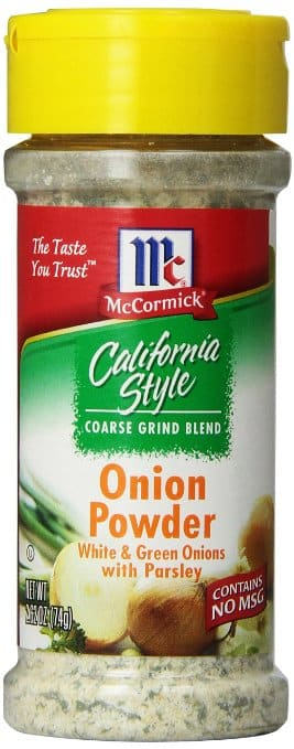 $1.43 McCormick California Style Coarse Grind Blend Onion Powder, White and Green Onions with Parsley, 2.62 Ounce 5% Amazon s&s