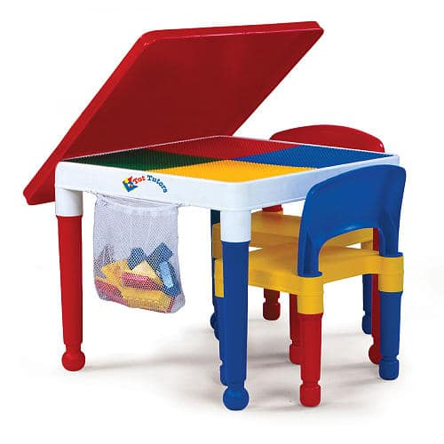 Tot Tutors 2-In-1 Construction Table & Chairs Set w/ 100-Piece Starter Blocks $29.99+ Free Shipping