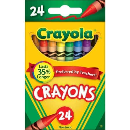 24-Pack Crayola Classic Color Crayons $0.50 at Walmart (use your ShippingPass or pick up in store)