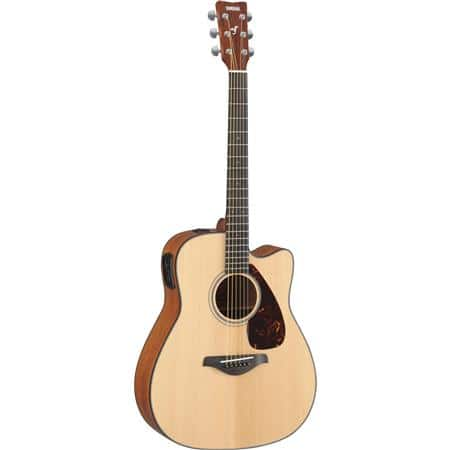 Yamaha FGX700SC 6 String Solid Top Cutaway Acoustic-Electric Guitar  $200 & More + Free Shipping