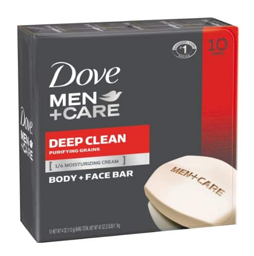 10-Ct Dove Men + Care Body and Face Bar (Deep Clean)  $8.15 + Free Shipping