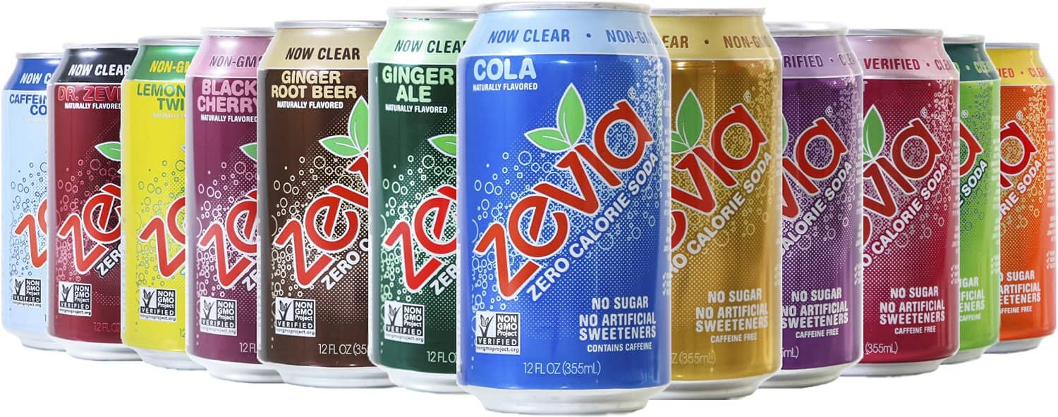 Zevia Zero Calorie Soda, Rainbow Variety Pack, Pack of 24 - as low as $10.54 w/ 40%-off coupon & 15% S&S - Amazon
