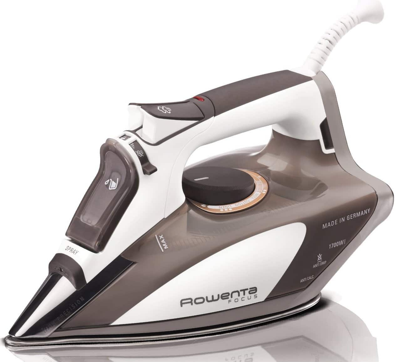 Amazon Prime Members: Rowenta Focus 1700W DW5080 Micro Steam Iron w/ Stainless Steel Soleplate $53 + Free Shipping