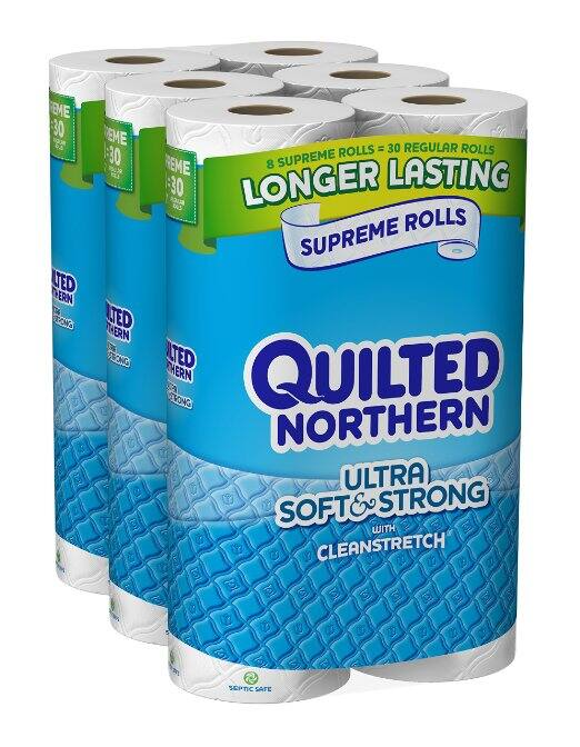 Prime Members: 24-Ct Quilted Northern Ultra Soft & Strong Supreme Rolls  $16 + Free Shipping